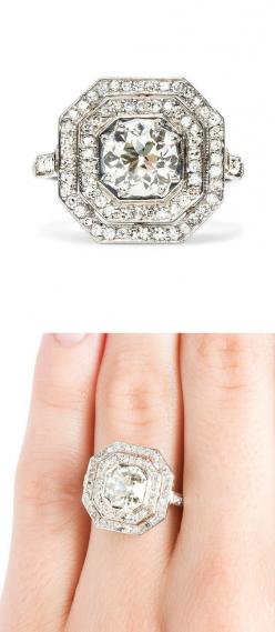 Art Deco Diamond Ring  #Anthropologie #PinToWin