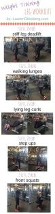 WEIGHT TRAINING LEG WORKOUT | click image for full workout ebook guides by Lauren Gleisberg: Gym Glute Workout, Body Weight Workout, Leg And Glute Workout, Lower Body Workout, Gym Leg Workout, Gym Workout, Weight Training Workout, Butt Workout