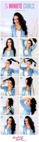 40 Quick Hairstyle Tutorials For Office Women | http://stylishwife.com/2015/05/quick-hairstyle-tutorials-for-office-women.html: Idea, Hairstyles, Hair Styles, Hair Tutorial, Beauty, 5 Minute Curls