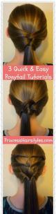 Better not show this one to G or I'll be busy for the next month trying to figure them all out. :): Ponytail Tutorial, Easy Hair Do, Hair Styles, Girls Hairstyles, Hairstyles For Girls, Easy Ponytail Hairstyles, Easy Girl Hairstyle