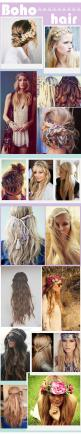 Des beaux tutos coiffures tressées pour des cheveux bohèmes, inspirés de Coachella ♥ Coachella Festival Hair Tutorials for perfect boho hair ♥: Cute Hair Color, Festival Hairstyle, Hippie Hairstyle, Girls Hairstyle, Easy Hair Style, Boho Braid
