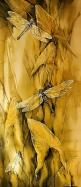 Dragonflies-•Mind   •Dreams  •Balance   •Thoughts  •Awareness  •Living to the fullest: Dragon Flies, Dragonfly S, Art, Yellow, Silk Painting, Dragonflies