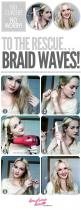 I do this to make my hair wavy and not curley (likeit is naturally)...No Curler, No Worry! Braid Waves To The Rescue!: Hair Ideas, Hairstyles, Hair Tutorials, Hair Styles, Makeup, Beauty, Curling Iron