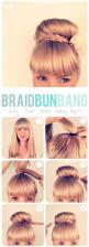 I do this with olivias hair already. it is so cute and hides the hair tie.: Hairstyles, Braided Buns, State, Braid Buns, Hair Styles, Braidbun, Makeup, Braids, Beauty