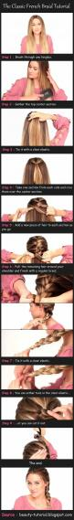 Like the rubberband trick, finally might be able to learn how to braid my hair!! lol: French Braids, Frenchbraid, Hair Styles, Hairdos, Hair Tutorial, French Braid Tutorial, Hair Do, Hairstyle, Classic French
