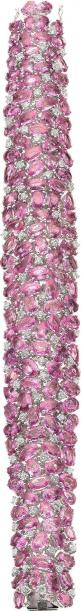 Pink Sapphire, Diamond, White Gold Bracelet features oval and pear-shaped pink sapphires weighing a total of 62.85 carats, enhanced by full-cut diamonds weighing a total of 3.70 carats, set in 18k white gold.: Jewelry Diamonds, Jewellery, Gold Bracelets,