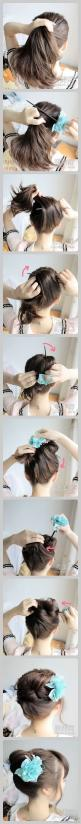 quick and simple bun with a stick: Hairstyles, Hairdos, Hair Styles, Hair Bun, Hair Tutorial, Hair Do, Updos