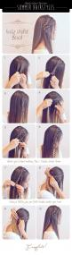 straight hair with braids: Hairstyles, Straight Hair Hairstyle, Cute Hair Style, Cute Easy Hair Style, Hair Tutorial, Straight Hairstyle, Summer Hair Style
