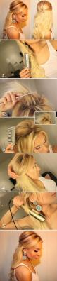 Teased Half Up Hair - Hairstyles and Beauty Tips: Hair Ideas, Wedding Hair, Hairstyles, Hair Styles, Hair Tutorial, Hair Makeup, Hair Do S