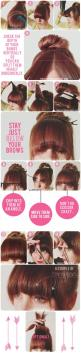 The Beauty Department: Your Daily Dose of Pretty. - AT-HOME BANG TRIM (IF YOU MUST!): Diy Bang, Hairstyles, Bang Trim, Hair Styles, Makeup, Bangs Tutorial, Cutting Bangs, Beauty, Cut Bangs