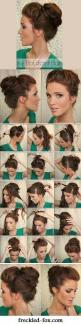 The Bouffant Bun: Hairstyles, Hair Styles, Hairdos, Hair Tutorial, Updos, Hair Do
