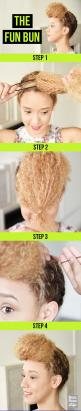 The Fun Bun | 26 Incredible Hairstyles You Can Learn In 10 Steps Or Less: Diy Hairstyles, Funky Hairstyle, Incredible Hairstyles, Ugly Hairstyle, Natural Hairstyles, Wedding Hairstyles