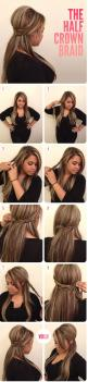 THE HALF CROWN BRAID-Top 15 Easy-To-Make Braids Tutorials | bridesmaids hair: Hair Ideas, Hair Colors, Hairstyles, Hairdos, Hair Styles, Makeup, Hair Tutorial, Hair Do, Half Crown Braids