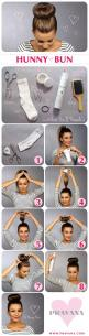 The Hunny Bun | From Classy to Cute: 25+ Easy Hairstyles for Long Hair http://www.jexshop.com/: Easy Hairstyles, Hair Ideas, Hair Styles, Tutorial, Beauty, Hunny Bun, Hairstyles For Long Hair, Sock Buns