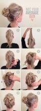 top half braided, messy bun. messy pony tail for long hair. not a good link, but this pic is good: Hairstyles, Hair Styles, Hairdos, Hair Tutorial, Hair Do, Average Bun, Braided Bun