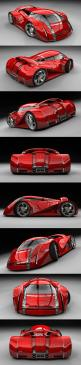 UBO - Concept Car Rouge  So way out took nerve to build this one!: Conceptcars, Automobile, Cars, Future Car, Cars Concept, Concept Cars