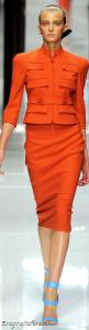 Versace ~ Love pretty much everything about this.  No place to wear it, but love it!!: Orange Fashion, Color Everything Orange, Fashion Outfits, Fashion Week, Dress, Versace Spring, Favorite Color Everything, Perfect Outfits