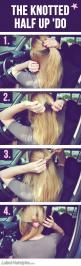5 Super Quick & Easy Hairstyles You Can Do in Your (Parked) Car | Latest-Hairstyles.com: Car, Hair Styles, Frisuren Hairstyles, Easy Hairstyles Tutorials, Fast Hairstyles, Quick Easy Hairstyles, Easy Peasy Hairstyles, Half Up Hairstyles