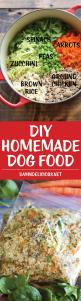 DIY Homemade Dog Food - Keep your dog healthy and fit with this easy peasy homemade recipe - it's cheaper than store-bought and chockfull of fresh veggies!: Homemade Dog Food, Dog Treats Recipe, Fresh Veggies, Homemade Recipe, Dog Healthy, Easy Peasy,