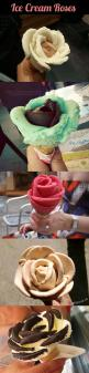 Flowers made out of ice cream...ICE CREAM!!!!: Cream Roses, Ice Cream Flower, Idea, Ice Cream Rose, Food, Cream Flowers, Icecream, Dessert
