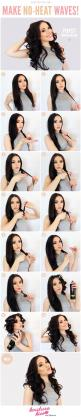 How to get no heat waves! :: No heat curls:: Beauty Tips:: DIY waves without heat!: Hair Ideas, Hairstyles, Hair Styles, No Heat Waves, Hair Tutorial, No Heat Curl, Heat Curls, Hair Tips