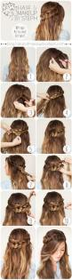 Love the half braided crown hairstyle #braidwaves: Hairstyles, Hair Styles, Hair Tutorial, Wrap Around Braid