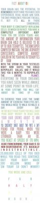 Not sure if these are all true, but still really awesome. And the formatting is great. :): About You, Mind Blown, Quotes, Stuff, Fun Facts, Interesting Facts, Things, Human Body, Random Facts