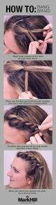 The bang braid is your solution to keeping annoying mid-level bangs off your face. | 18 Ingenious Hair Hacks For The Gym: Hairstyles, Hair Styles, Hairdos, Braid Bang, Sure Braids