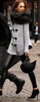 leather pants, sweater. love this look http://theonemagazinetrends.blogspot.com: Sweater, Fashion, Michael Kors, Street Style, Outfit, Fur, Fall Winter, Michaelkors