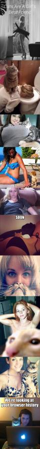 The last picture is too funny...: Cats, Girls, Best Friends, Funny Pictures, Bestfriends, Funny Stuff, Funnies, Animal