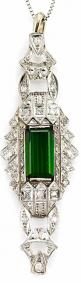 Art Deco Emerald & Diamond Pendant | Luxurydotcom | via: Art Deco Jewelry, Art Nouveau, Art Deco Diamond, Baubles, Sparkle, Zz Joyas, Artdeco Emerald