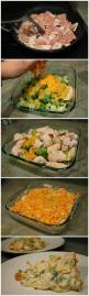 Chicken Broccoli Casserole. Use ritz crackers. One sleeve. Save some for the top. Use full fat everything. It will taste even better! This one is most like my moms.: Broccoli Casserole Recipe, Skinny Chicken Recipe, Broccoli And Chicken Recipe, Chicken An