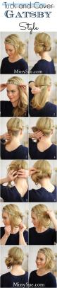 Could be a twist on my daily messy bun/pony tail... Tuck and Cover, Great Gatsby Style: Hairstyles, Hair Styles, Hairdos, 20 S, Hair Tutorial, Hair Do, Updos, Gatsby Style, Tuck And Cover