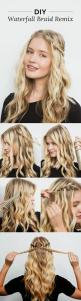 DIY the Waterfall Braid Remix That's Perfect For Festival Weekend: Braid Remix, Hair Styles, Hair Tutorial, Makeup, Hair Beauty, Waterfall Braids, Wavy Hairstyles