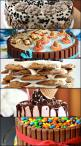 Easy Cake Decorating Ideas That Require No Skill - teddy graham beach cake, kit kat cake, melting ice cream cone cake, and a stacked chocolate chip cookie cake!: Cookie Cakes, Kit Kat Cakes, Teddy Graham, Idea, Chocolate Chips, Beach Cakes, Chocolate Chip