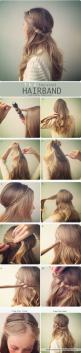 easy hairstyle of the twisted hairband Women s Fashion easy hairstyles | hairstyles: Hairstyles, Hairdos, Hair Styles, Hair Tutorial, Hair Do, Hair Band, Twisted Hairband