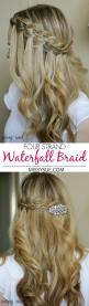 Four Strand Waterfall Braid: Cool Braid, Waterfall Braids, Strand Waterfall, Waterfall Braid Hairstyle