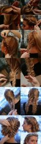 How to Make Bun With Fishtail Braid | DIY & Crafts Tutorials: Fish Tail, Wedding Hair, Hairstyles, Hairdos, Hair Styles, Fishtail Updo, Makeup, Updos