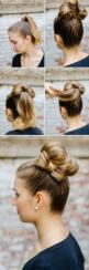 i'm gonna have to figure it out myself cuz i can't really tell how to do the bun, but it looks really sweet!!: Hairstyles, Hair Styles, Hair Bun, Makeup, Bow Buns, Hair Tutorial, Hair Bows, Updo