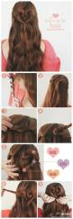 More hairstyles step by step tips on http://pinmakeuptips.com/hot-styles-for-shoulder-length-hair/: Easy Hairstyles, Cute Hairstyles Curly, Hair Styles, Cute Hairstyles For Curly Hair, Cute Curly Hairstyles, Hairstyles Braids, Heart Shaped Hairstyles, Val