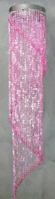 Pink:  #Pink beaded chandelier.: Pink Sparkle, Chandeliers, Light, Pink Beads