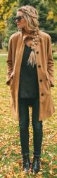 See more fashion combos on http://pinmakeuptips.com/schoolwear-solutions-for-young-fashionlistas/: Autumn Outfit, Street Style, Winter Outfit, Camel Coat, Fall Fashion, Fall Winter