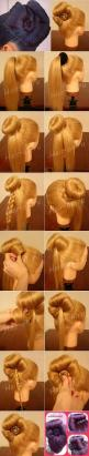 Sophisticated Bun Decorated with a Cute Bow – DIY: Hair Styles, Hair Bun, Sock Bun, Hairstyle, Bun Decorated, Updo