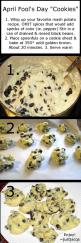 April Fools cookies. SO doing this.: Aprilfools, Mashed Potato, Chocolate Chips, Pranks, April Fools Day, Chocolate Chip Cookies, Fools Cookies