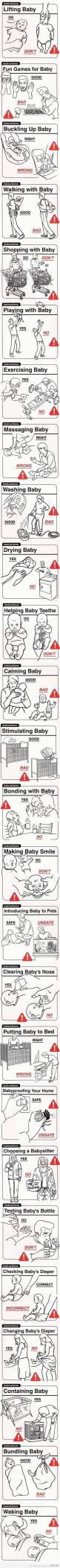 Baby do's and dont's :): Of, Babies, Giggle, New Parents, Don T, So Funny