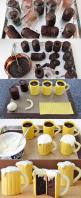 Beer Mug Cupcakes!! Wow what a great idea an for a twist add a bit of beer to the batter!: Beer Cupcake, Chocolate Cake, Sweet, Beer Mugs, Beer Mug Cake, Food, Beer Cakes, Dessert