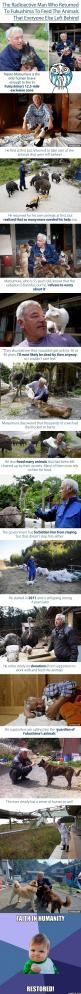 Faith in humanity....Restored!: Faith Humanity, Guy, Fukushima S Animals, Faith In Humanity Animals, Faith In Humanity Restored, Guardians Of Ga'Hoole, Faith Restored, Amazing People