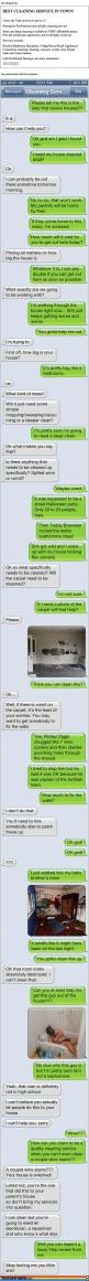 Haha I'm still laughing.: Texting Pranks, Text Messages, Funny Stuff, Epic Texting, Epic Texts, Cleaning Service