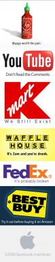 If companies were honest, the world would be a funnier place…: Funny True, Waffle House, Completely Agree, 2000 Fb, Company Slogans, Honest Slogans, True Slogans, Comment, Companies Honest Logotypes