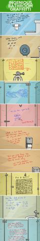 Ingenious bathroom graffiti…: Bathroom Graffiti, Ingenious Bathroom, Funny School Quotes, School Quotes Funny, Graffiti Ideas, Funny Stuff, School Pranks Ideas